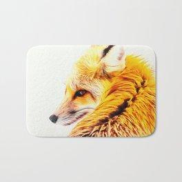 red fox digital acryl painting acrstd Bath Mat
