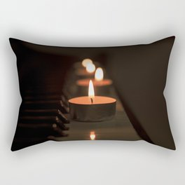 Candles on the piano Rectangular Pillow