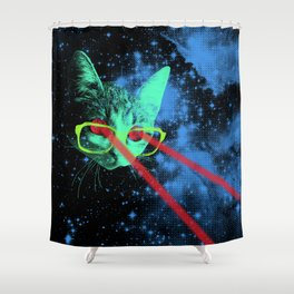 Mister Mittens' Big Adventure Shower Curtain