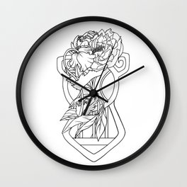One whole line Wall Clock