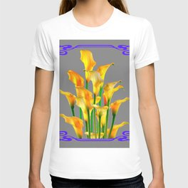 PURPLE-GREY ART NOUVEAU GOLDEN CALLA LILIES T-shirt