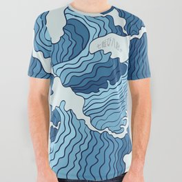 Waves | 7&8 All Over Graphic Tee