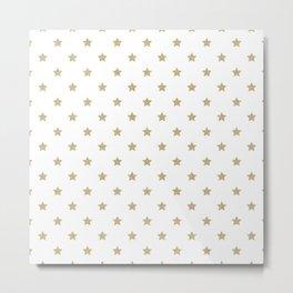 Gold Glitter Star Pattern Metal Print