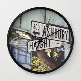 Haight Ashbury Wall Clock