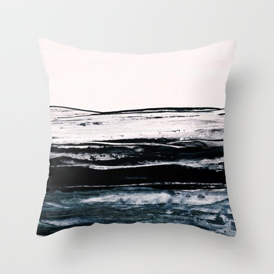 abstract minimalist landscape 9 Throw Pillow