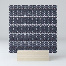 Winter Flakes Pattern Mini Art Print