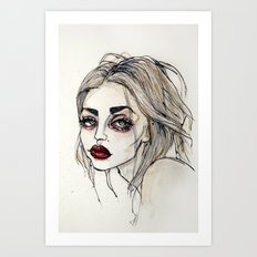 Frances Bean Cobain no.3 Art Print