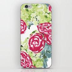 Peonies, Hydrangeas and Succulents iPhone & iPod Skin