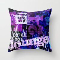 typo Throw Pillows featuring Lounge Typo by LebensART