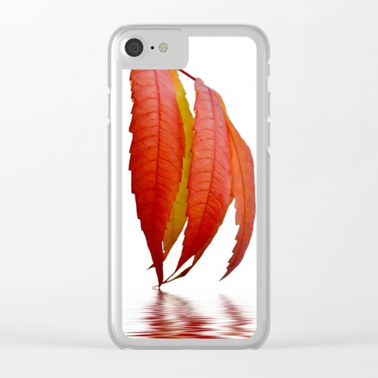 Autumn Foliage 183 Clear iPhone Case