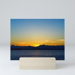 seattle sunset Mini Art Print