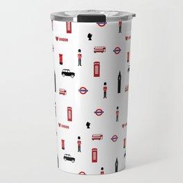 London pattern.London city.England. Travel Mug