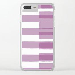 Big Stripes in Purple Clear iPhone Case