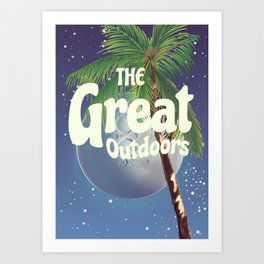 The Great Outdoors Moon Art Print