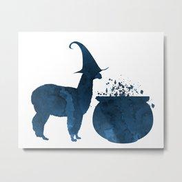 Witch Llama Metal Print
