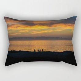 Sunrise with Penguins Rectangular Pillow