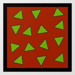Rocko's Triangles Art Print