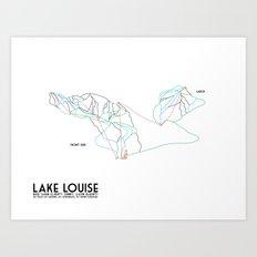 Lake Louise, Canada - Front - Minimalist Winter Trail Art Art Print