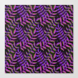 Night Foliage - Purple Canvas Print