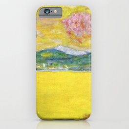 Pink Sunset at Saint-Tropez, French Riviera, France Beach landscape by Pierre Bonnard iPhone Case