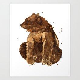 Huggy Bear Art Print