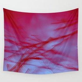 Pink Tree Blur Wall Tapestry