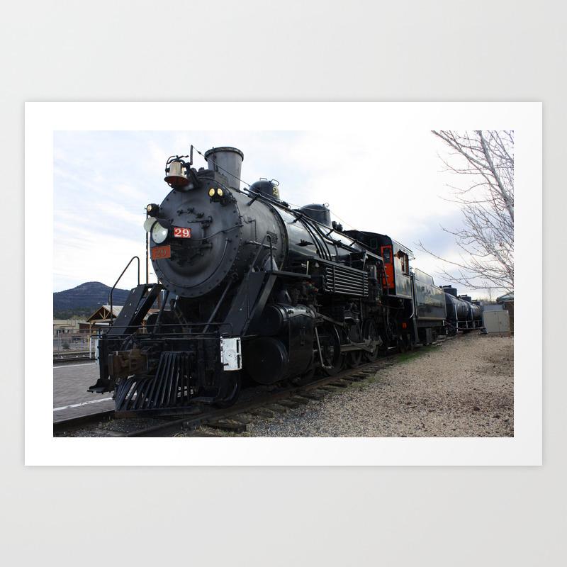 Vintage Railroad Steam Train Art Print By Gx9designs Society6