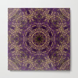 Purple Mandala Hippie Pattern Metal Print