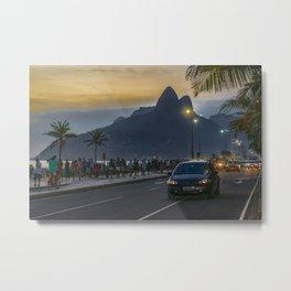 Ipanema Sidewalk Rio de Janeiro Brazil Metal Print