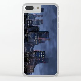 Night city panorama Clear iPhone Case