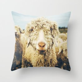 Curly I Throw Pillow