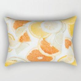 citrus fresh orange twist Rectangular Pillow