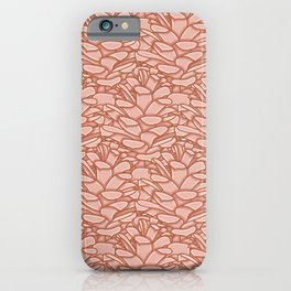 Abstract Pine Cone Pattern iPhone Case