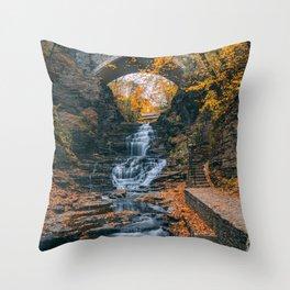 Cascadilla Gorge Throw Pillow
