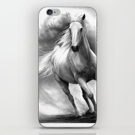 Horse GRAPHITE DRAWING II. iPhone Skin