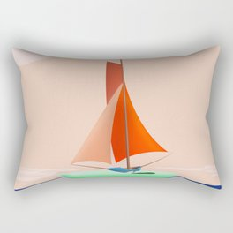 May Navigating on a Flat Earth - shoes stories Rectangular Pillow