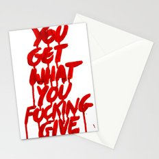 You Get What You Give Stationery Cards