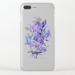 Spring tropical leaves Clear iPhone Case