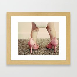 Chubs in Heels Framed Art Print