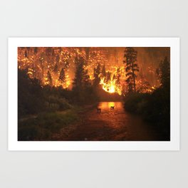 """""""Fire in the Woods"""" Art Print"""
