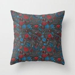 Snail doodle Throw Pillow