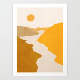 Minimal Art Landscape 7 Art Print