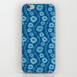 Wavy Toothy Flowers > Blue iPhone Skin