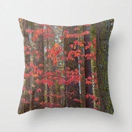 Red Dogwood Throw Pillow