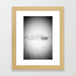 Two Trees in Winter Framed Art Print
