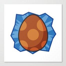 Tamagotchi Egg (Brown) Canvas Print