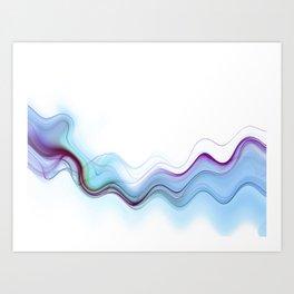 Smoky Waves Art Print