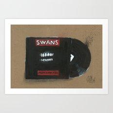Diddie Doodle Swans Filth Art Print