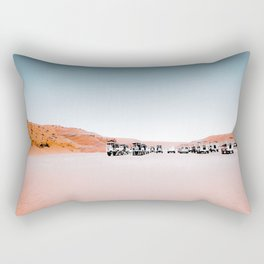 Sandy desert with blue sky at Antelope Canyon, Arizona, USA Rectangular Pillow