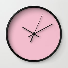 Orchid Pink - solid color Wall Clock